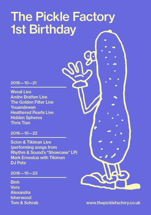 The Pickle Factory 1st Birthday - Saturday | Oval Space